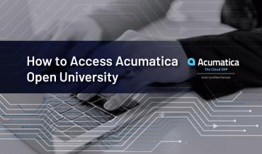 How to Access Acumatica Open University